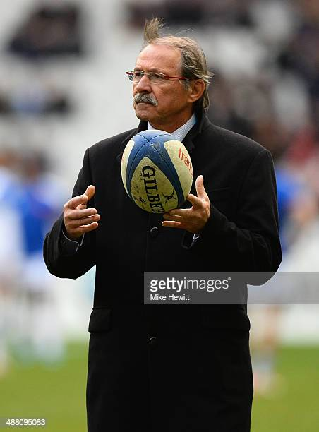 Italy coach Jacques Brunel looks on during the RBS Six Nations match between France and Italy at Stade de France on February 9 2014 in Paris France