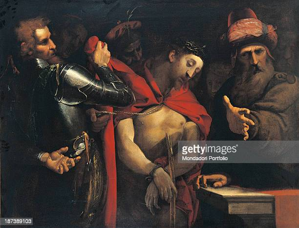 Italy Credito Bergamasco All A soldier tortures Jesus with a rope Pontius Pilate shows him to the crowd