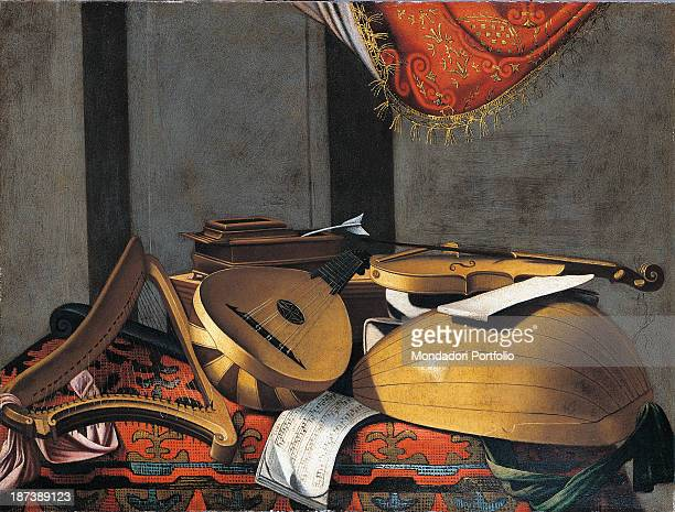 Italy Credito Bergamasco All Still life with musical instruments and sheet music