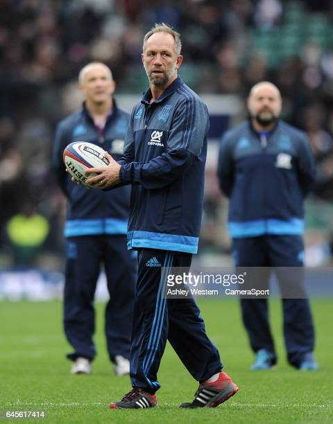 Italy defence coach Brendan Venter during the pre match warm up before the RBS Six Nations Championship match between England and Italy at Twickenham...