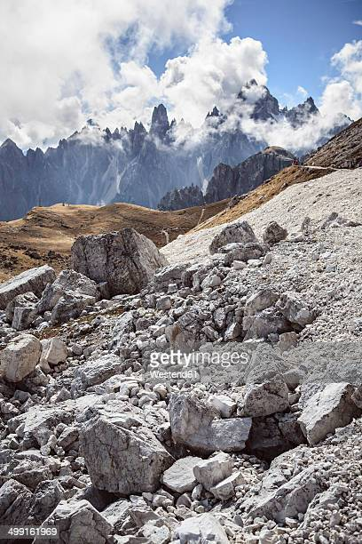 Italy, Dolomite Alps, clouds at Tre Cime di Lavaredo