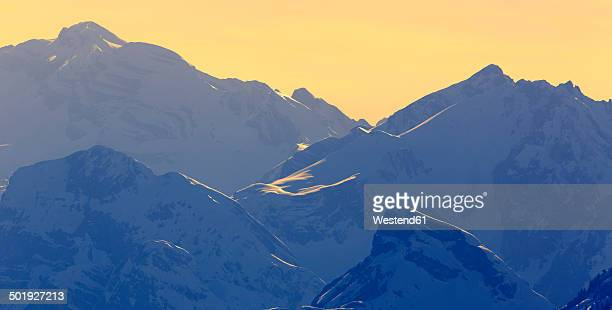 Italy, Dolomites, Trentino-Alto Adige, Sexten Dolomites, Pustertal valley, Hochpuster valley in the evening