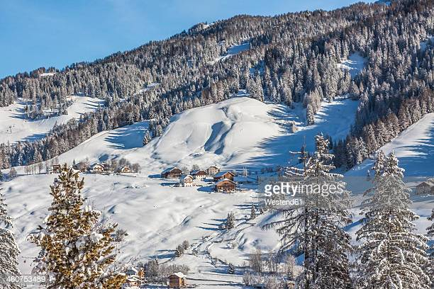 italy, dolomites, view of alta badia in la villa - alta badia stock pictures, royalty-free photos & images