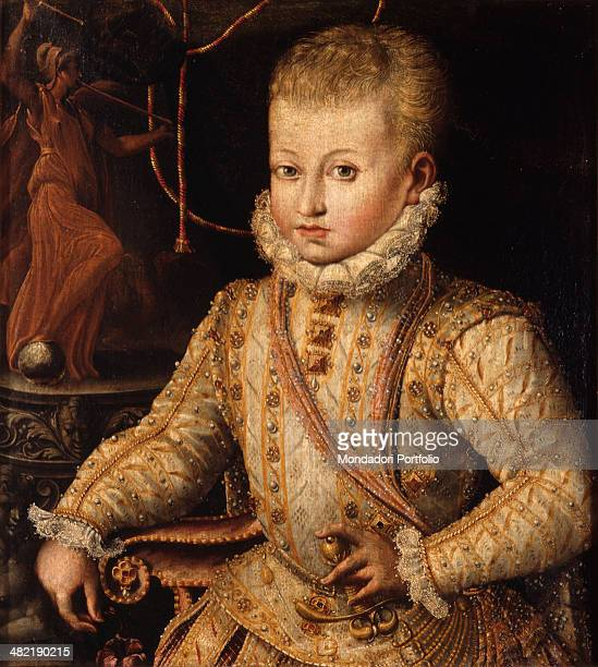 Italy Emilia Romagna Parma National Gallery Whole artwork view Portrait of a child in cerimony clothes
