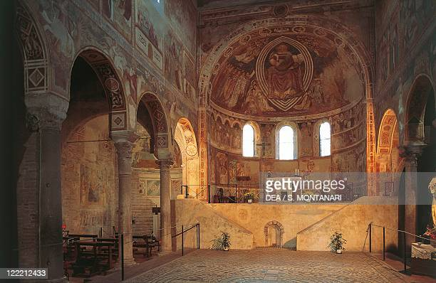 Italy - Emilia Romagna region - Ferrara Province - Pomposa Abbey. Interior, apse, frescos.