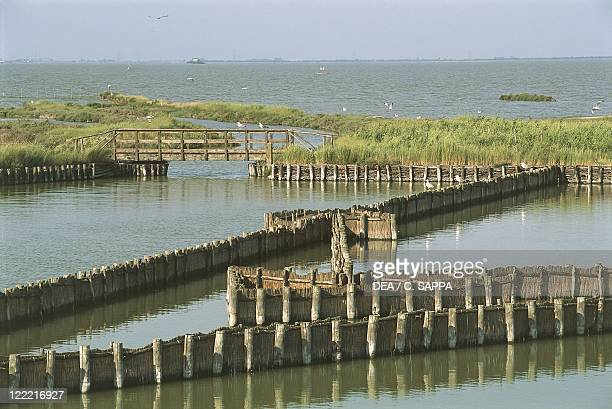 Italy Emilia Romagna Region Regional Park of the Po River Delta Comacchio Valleys Eel traps