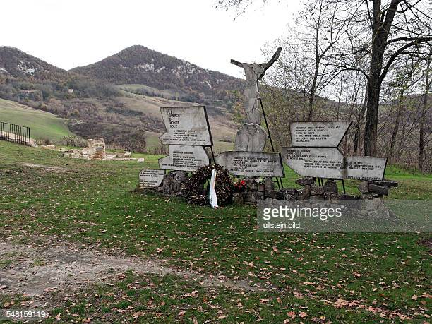 Italy EmiliaRomagna memorial of the massacre of Marzabotto commited 1944 by SS mechanized division killing hundreds of civilians the area is now...