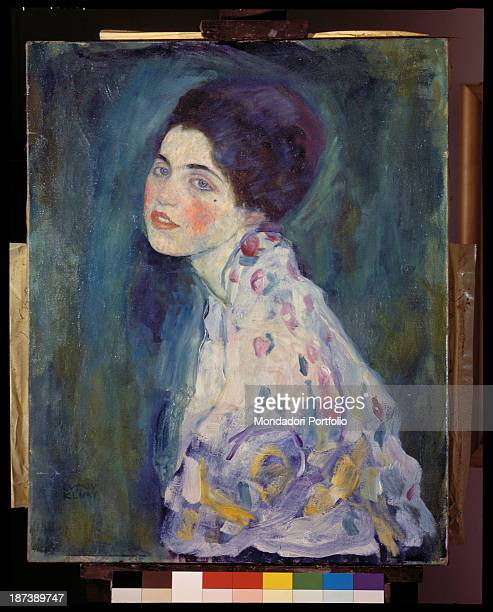 Italy EmiliaRomagna Piacenza Galleria d'Arte Moderna RicciOddi All An halflength profile portait of a woman wearing a coloured stains dress The...
