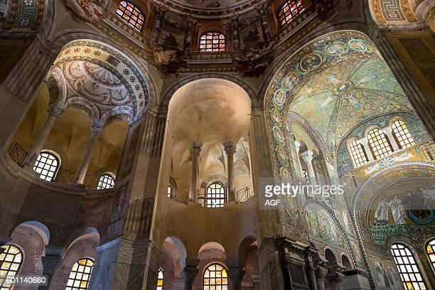 Italy EmiliaRomagna Ravenna The Basilica of San Vitale is one of the most important monuments of Early Christian art in Italy the octagonal church...