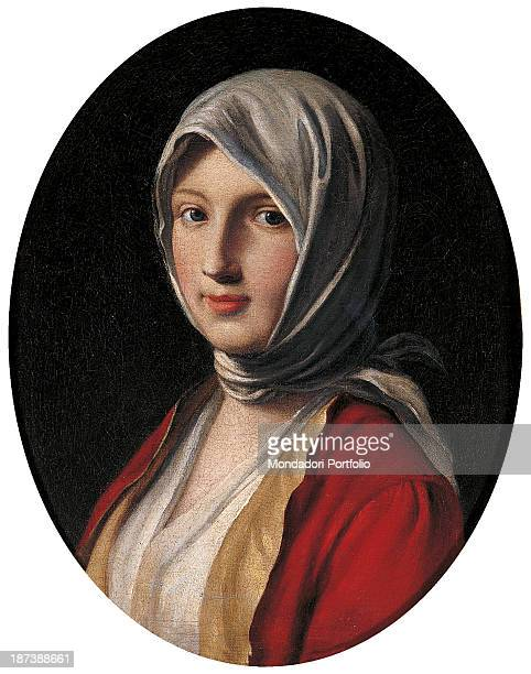 Italy EmiliaRomagna Vignola Private collection All Oval face with smooth and clear complexion bright eyes The head covered with a handkerchief tied...