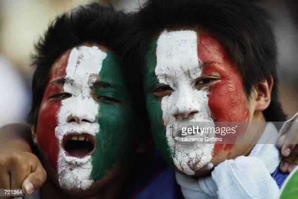 Italy fans during the FIFA World Cup Finals 2002 Group G match between Italy and Croatia played at the Ibaraki-Prefecutural Kashima Soccer Stadium,...