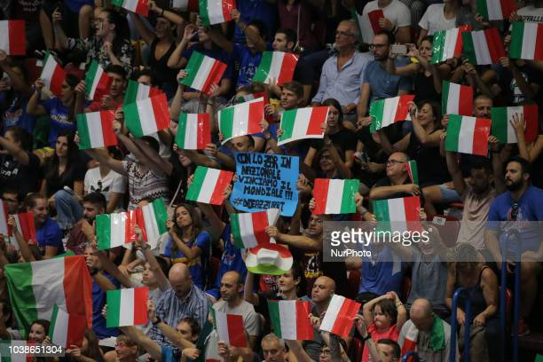 Michele Baranowicz of Italy during the FIVP Men's World Championship Second Round Pool E match between Italy and Netherlands at Mediolanum Forum on...
