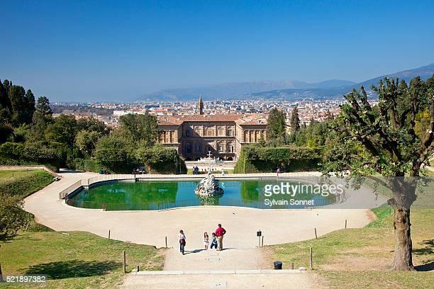 Italy, Florence, Boboli garden, Boboli garden, Neptune fountain