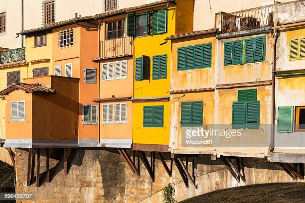 Italy, Florence, buildings on Ponte Vecchio