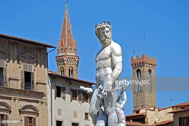 Italy Florence Signoria Square Fountain Of Neptune