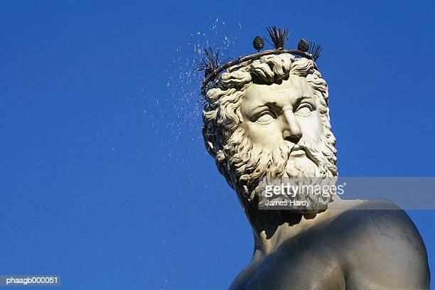 italy, florence, statue of neptune - grecia europa del sur fotografías e imágenes de stock