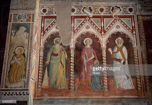 Italy. Florence. Theory of Saints by Spinello Aretino . Basilica of San Miniato al Monte.