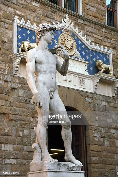 Italy - Florenz Firenze Florence: Statue of David at the Piazza della Signoria