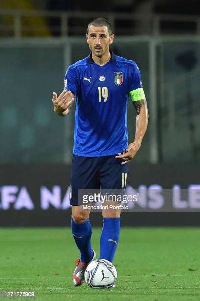 Italy football player Leonardo Bonucci during the match Italy-Bosnia and Herzegovina in the Artemio Franchi stadium. Firenze , September 4th, 2020