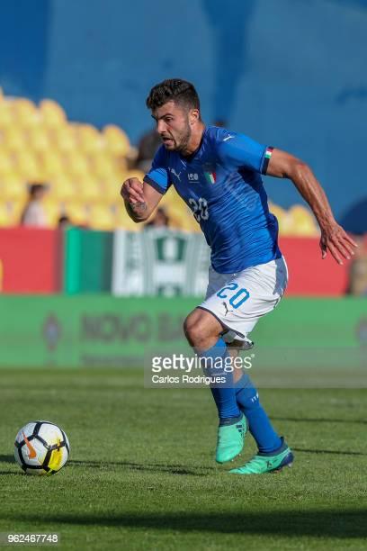 Italy forward Patrick Cutrone during the International Friendly match between Portugal U21 and Italy U21 at Estadio Antonio Coimbra da Mota on May 24...