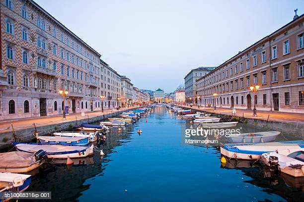 italy, friuli venezia giulia, trieste, canal grande - トリエステ ストックフォトと画像