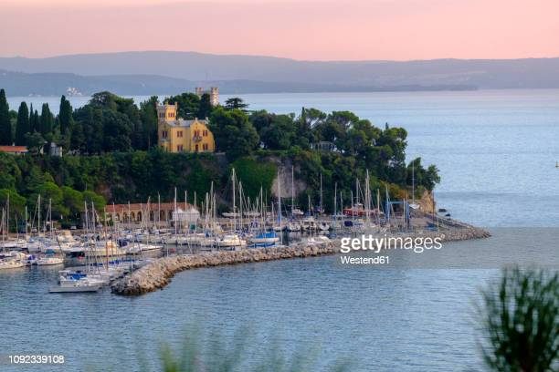 italy, friuli-venezia giulia, trieste, miramare castle - トリエステ ストックフォトと画像