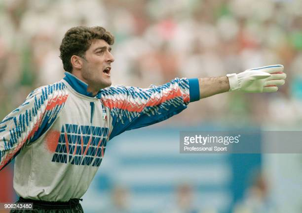 Italy goalkeeper Gianluca Pagliuca in action against the Republic of Ireland during a FIFA World Cup Group E match at Giants Stadium in East...