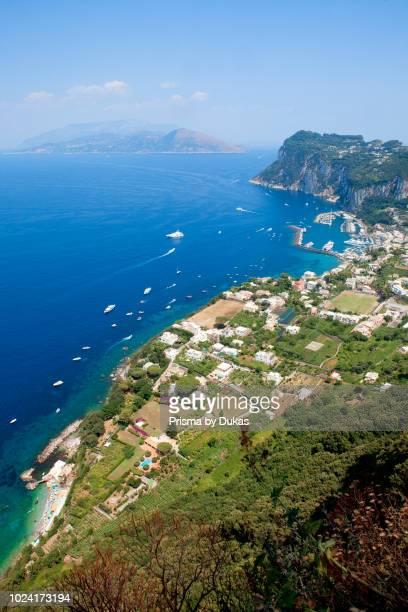 Italy Gulf of Naples Capri Marina Grande Harbour and Coastli