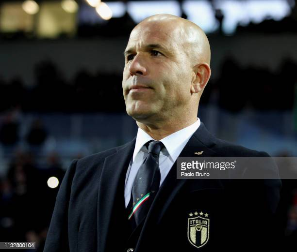Italy head coach Luigi Di Biagio looks on during the International Friendly match between Italy U21 and Croatia U21 at Stadio Benito Stirpe on March...