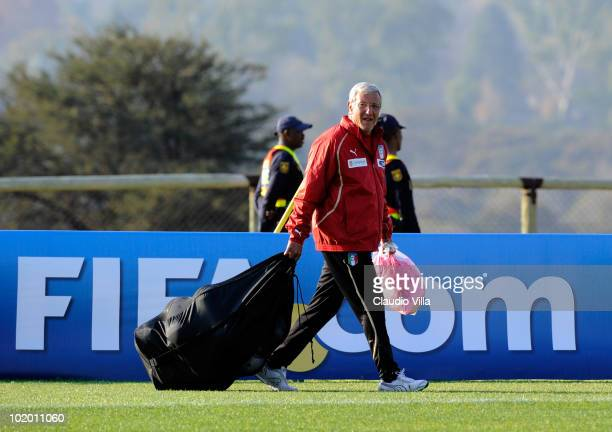 Italy head coach Marcello Lippi during the Italy Training session 2010 FIFA World Cup on June 12 2010 in Centurion South Africa