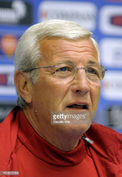 Italy head coach Marcello Lippi during the Press Conference on June 9 2010 in Centurion South Africa