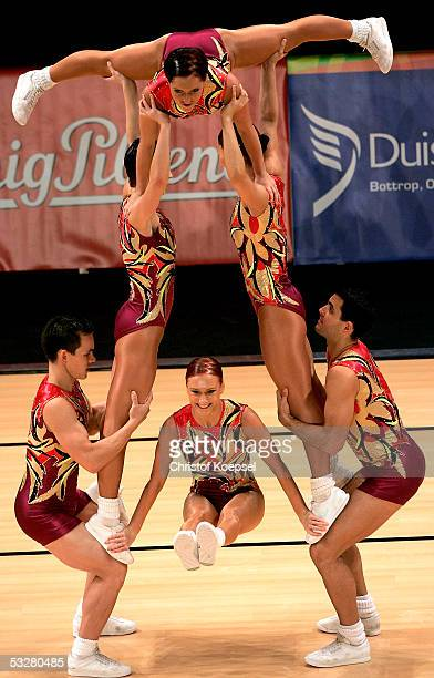 Italy in action in the sport aerobic discipline during the World Games 2005 on July 24 2005 in Duisburg Germany