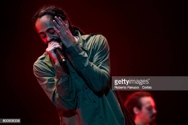 a Jamaican reggae singer Damian Marley performs at Rock in Roma Festival on June 23 2017 in Rome Italy