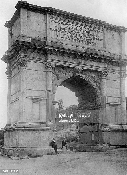 Italy Lazio 1870/186170 Stato Pontifico / Papal State Roma Rome Arch of Titus of the Roman Forum around 1927 Photographer AtlanticPressVintage...