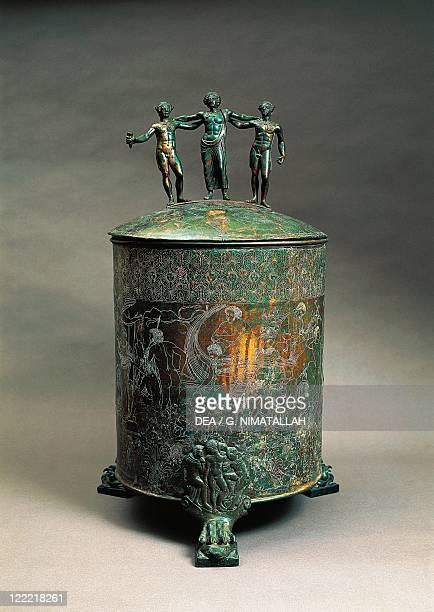 Italy, Lazio, Preneste, The Ficoroni Cista with a decoration depicting the Argonauts Myth.