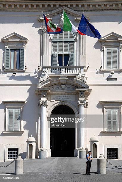 Italy Lazio Roma Portal of the Quirinal Palace residence of the Italian President