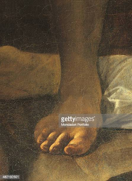 Italy Lazio Rome Church of Saint Luigi dei Francesi Detail One foot of the executioner