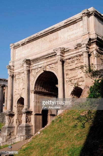 Italy Lazio Rome Roman Forum Foro Romano Arch of Septimus Severus