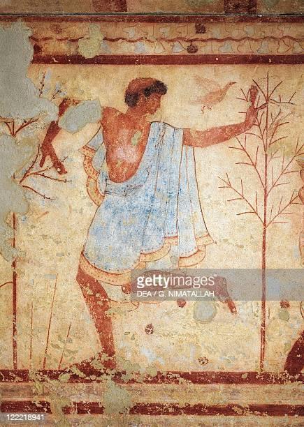 Italy Lazio Tarquinia Scene with a dancer from the Grave of the Triclinium fresco