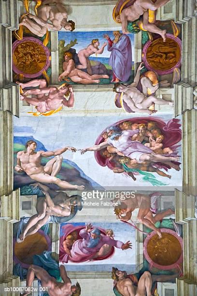 italy, lazio, the vatican, rome, vatican museums, michelangelo's sistine chapel - cappella sistina foto e immagini stock