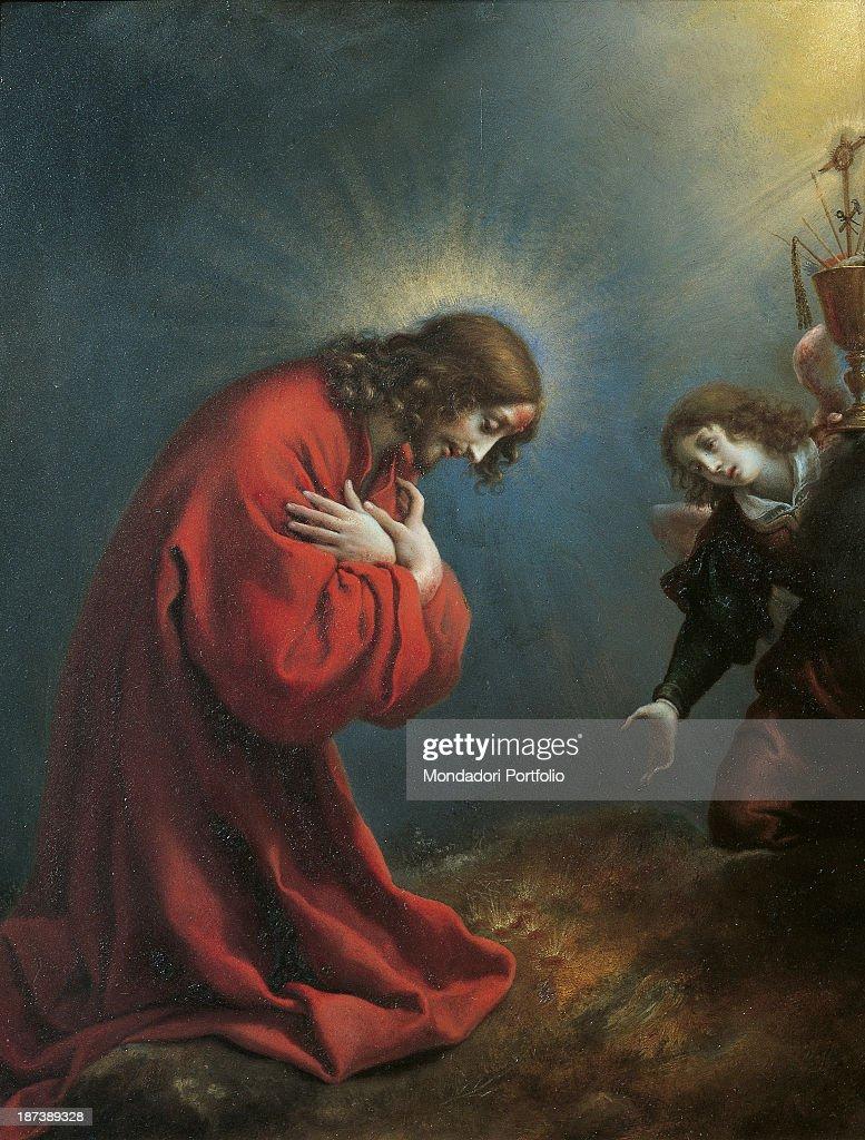christ in the garden of gethsemane. Italy, Liguria, Genoa, Palazzo Rosso - Galleria, All, Jesus Christ Pray In The Garden Of Gethsemane