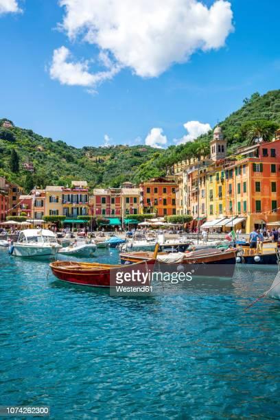 italy, liguria, golfo del tigullio, portofino - portofino stock pictures, royalty-free photos & images