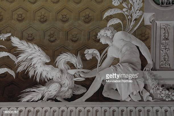 Italy Lombardy Bergamo Comonte Tassis' Villa DetailA young Ganymede is represented as he is feeding Zeus portrayed as an eagle Later Ganymede will...