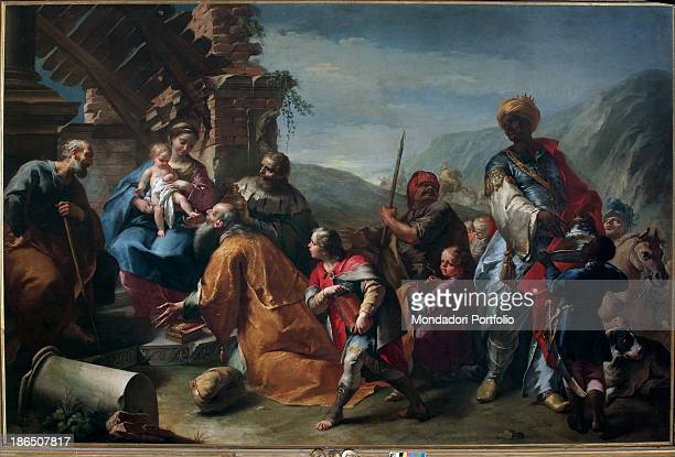 Italy Lombardy Bergamo St Agata of the Carmine's Church Whole artwork view The composition is calculated and careful and is composed by a series of...