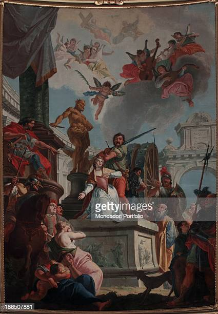 Italy Lombardy Bergamo St Catherine's church Whole artwork view This large painting is placed in the choir altarpiece Catherine's martyrdom is set as...