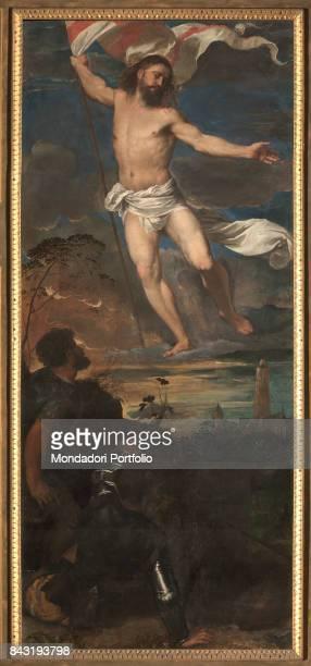 Italy Lombardy Brescia Collegiata di San Nazaro e San Celso Detail Risen Christ in the central board