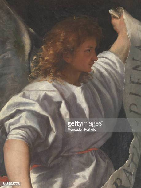 Italy Lombardy Brescia Collegiata di San Nazaro e San Celso Dettaglio The announcing Angel