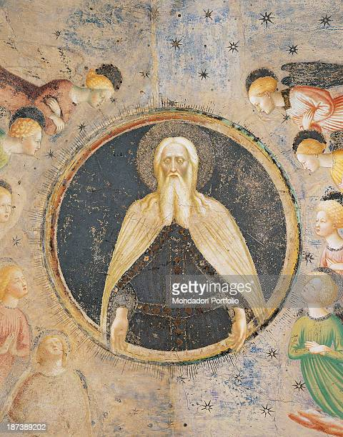 Italy Lombardy Castiglione Olona Battistero Bust of God the Father surrounded by angels
