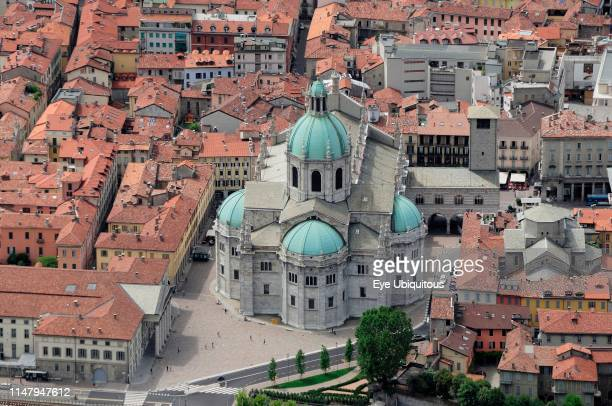 Italy. Lombardy. Lake Como. Como. View of the Duomo from Brunate.