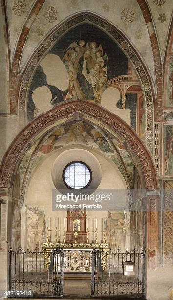 Italy Lombardy Lodi Church of Saint Francis Whole artwork view Oveview of the chapel dedicated to Saint Bernardino